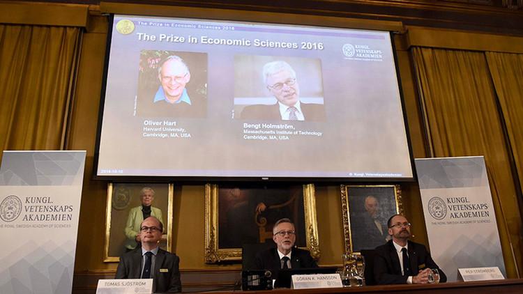 Anuncian a los ganadores del Premio Nobel de Economía del 2016