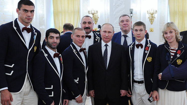 """Putin: """"Nuestras victorias en Río demuestran que sabemos afrontar una campaña agresiva en contra"""""""