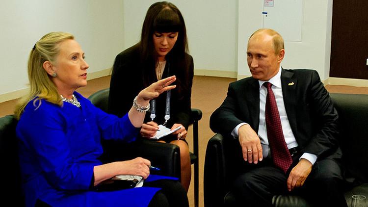 """""""Con Putin siempre es interesante"""": Desenmascaran la hipocresía de Clinton sobre Rusia y su líder"""