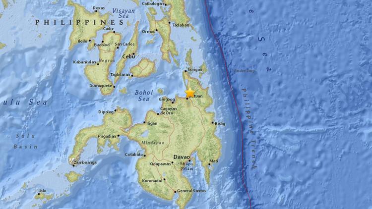 Un sismo de magnitud 5,4 sacude Filipinas