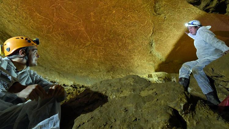 """""""Un tesoro de la humanidad"""": hallan en España pinturas rupestres de 14.000 años (foto, video)"""