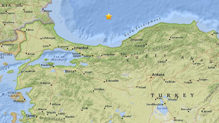 Se registra un sismo de magnitud 5,3 cerca de Turquía en el mar Negro