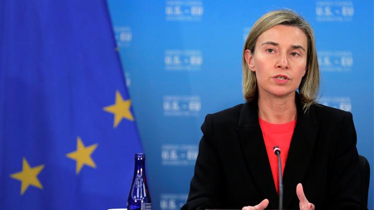 """Mogherini: """"Ningún país de la UE ha propuesto imponer sanciones a Rusia en relación a Siria"""""""