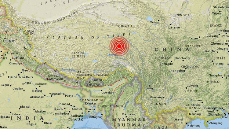 Un sismo de magnitud 6,4 sacude el Tíbet
