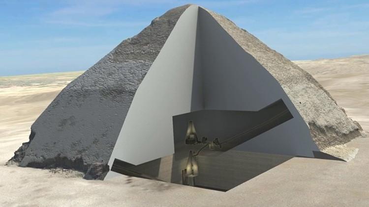 """Descubren dos """"anomalías"""" secretas en la pirámide de Keops"""