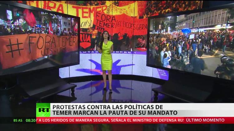 Las protestas contra las políticas de Temer marcan la pauta de su mandato