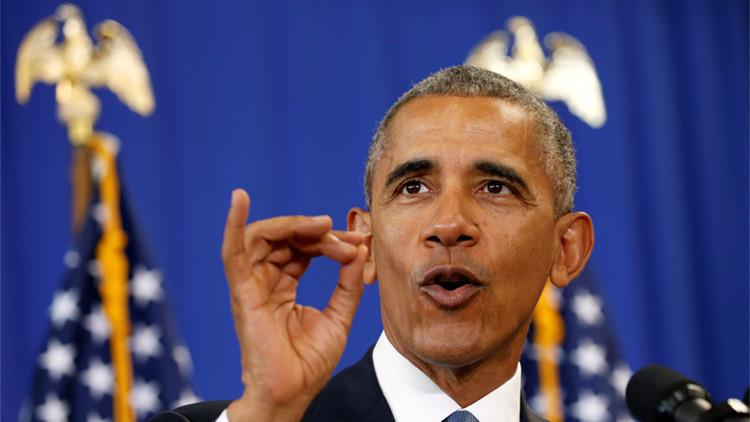 El presidente de EE.UU., Barack Obama, durante un discurso en el instituto académico Benjamin Banneker de Washington