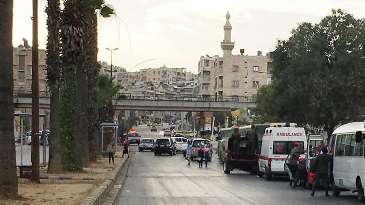 Terroristas atacan con morteros un corredor humanitario en Alepo