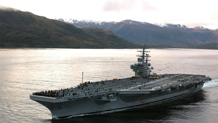 'Hackers' chinos atacan un portaviones de EE.UU. en el mar de la China Meridional