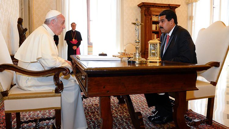 Maduro finaliza 'gira relámpago' reuniéndose con el papa Francisco