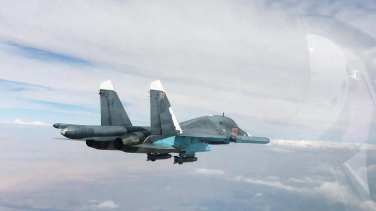 Los terroristas filman sus intentos de derribar un Su-34 ruso en Siria
