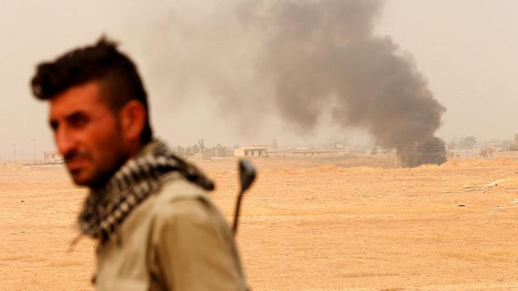 VIDEO: Las milicias kurdas destruyen un dron bomba de los terroristas en Mosul