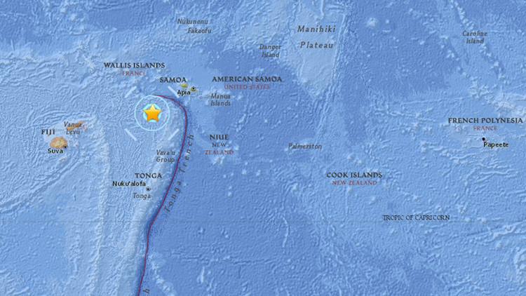 Se registra un sismo de magnitud 5,6 cerca de las costas de Tonga