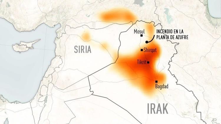 El Estado Islámico, responsable de la gran nube tóxica que tiene en vilo a Oriente Medio (FOTOS)