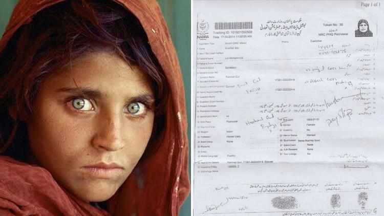 La niña afgana de National Geographic es arrestada en Pakistán