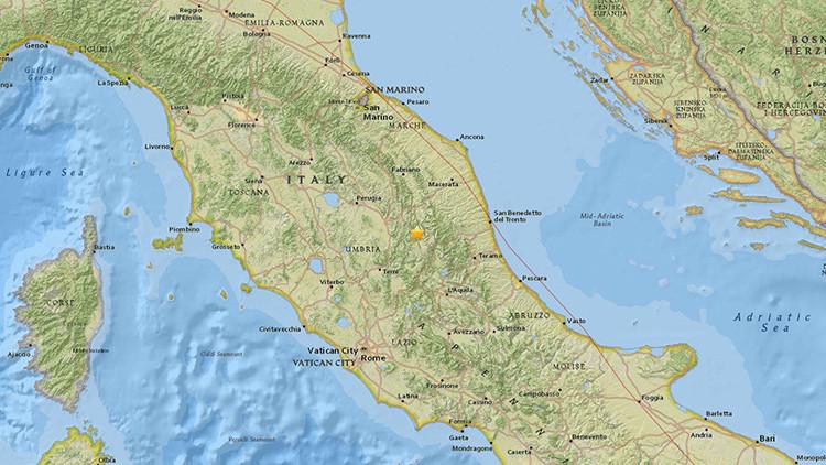Un fuerte sismo sacude el centro de Italia y llega hasta Roma