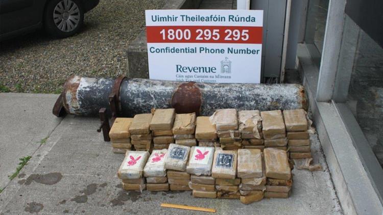 Lanzan un 'torpedo' con más de 5 millones de dólares en cocaína a las playas de Irlanda