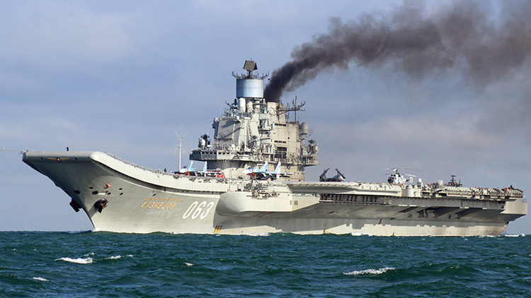 El grupo de combate del portaaviones ruso Admiral Kuznetsov se acerca a la costa de Marruecos