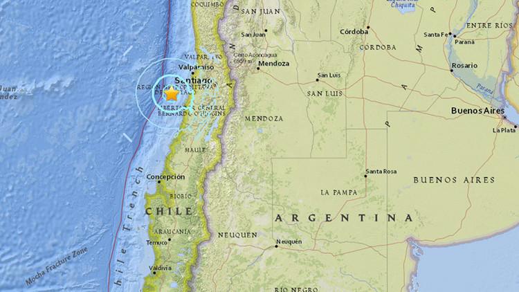 Un sismo de magnitud 5,9 sacude la costa de Chile