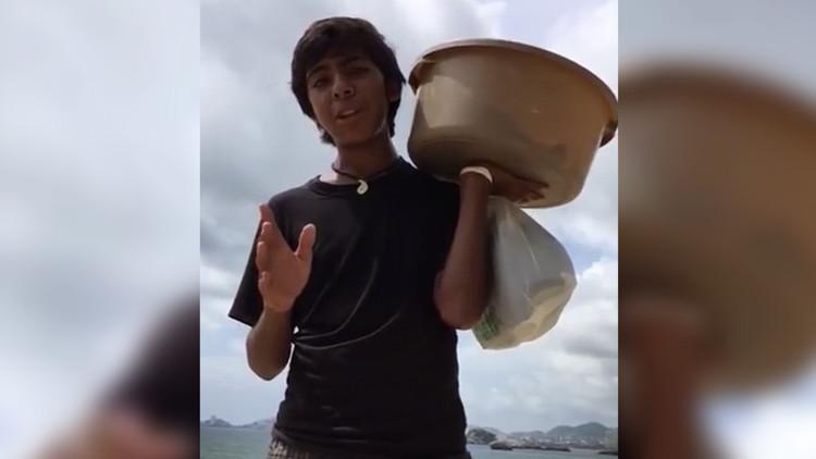 ¿Cuántas desea? Inesperada respuesta de famoso niño que vende empanadas a propuesta de yerno de Slim