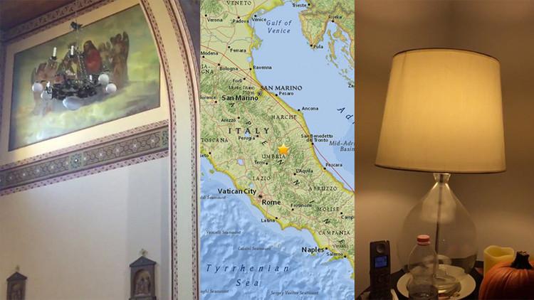 Primeros videos del nuevo potente terremoto en Italia