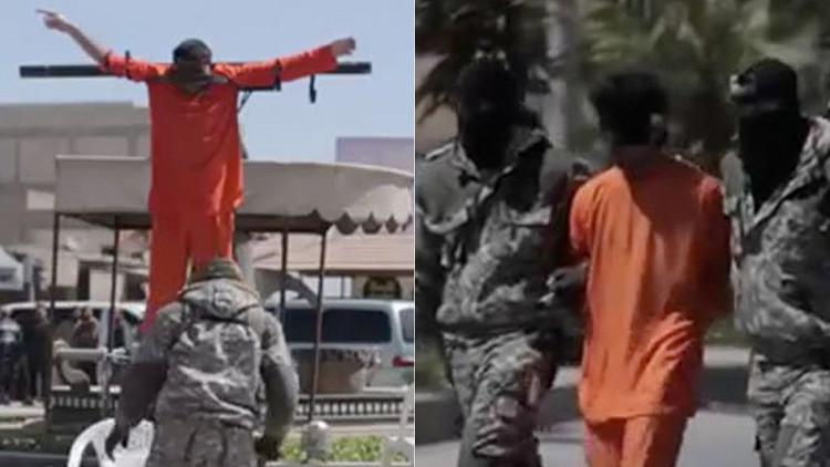 Terrorismo 2.0: El Estado Islámico crucifica a sus presos y proyecta sus videos