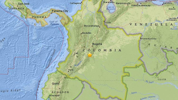 SISMO 5,4 GRADOS SACUDE COLOMBIA