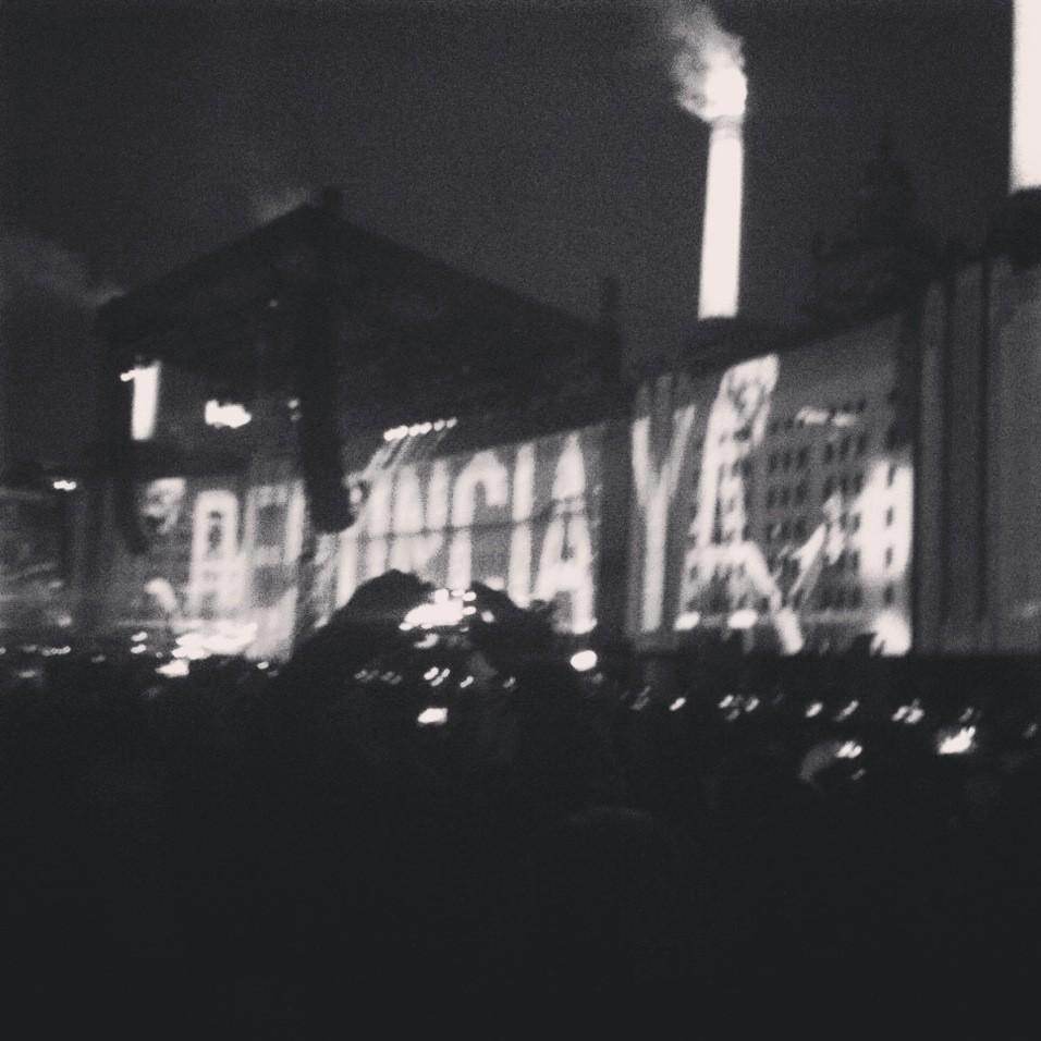 #RenunciaYa en el Zócalo de la Ciudad de México