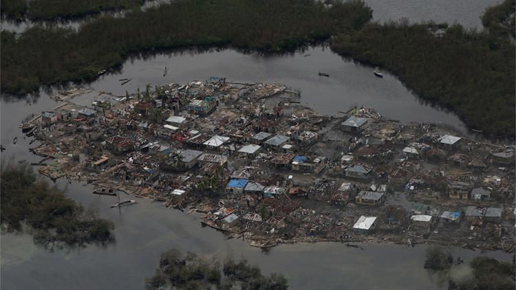 Casas destruidas en Corail, Haití