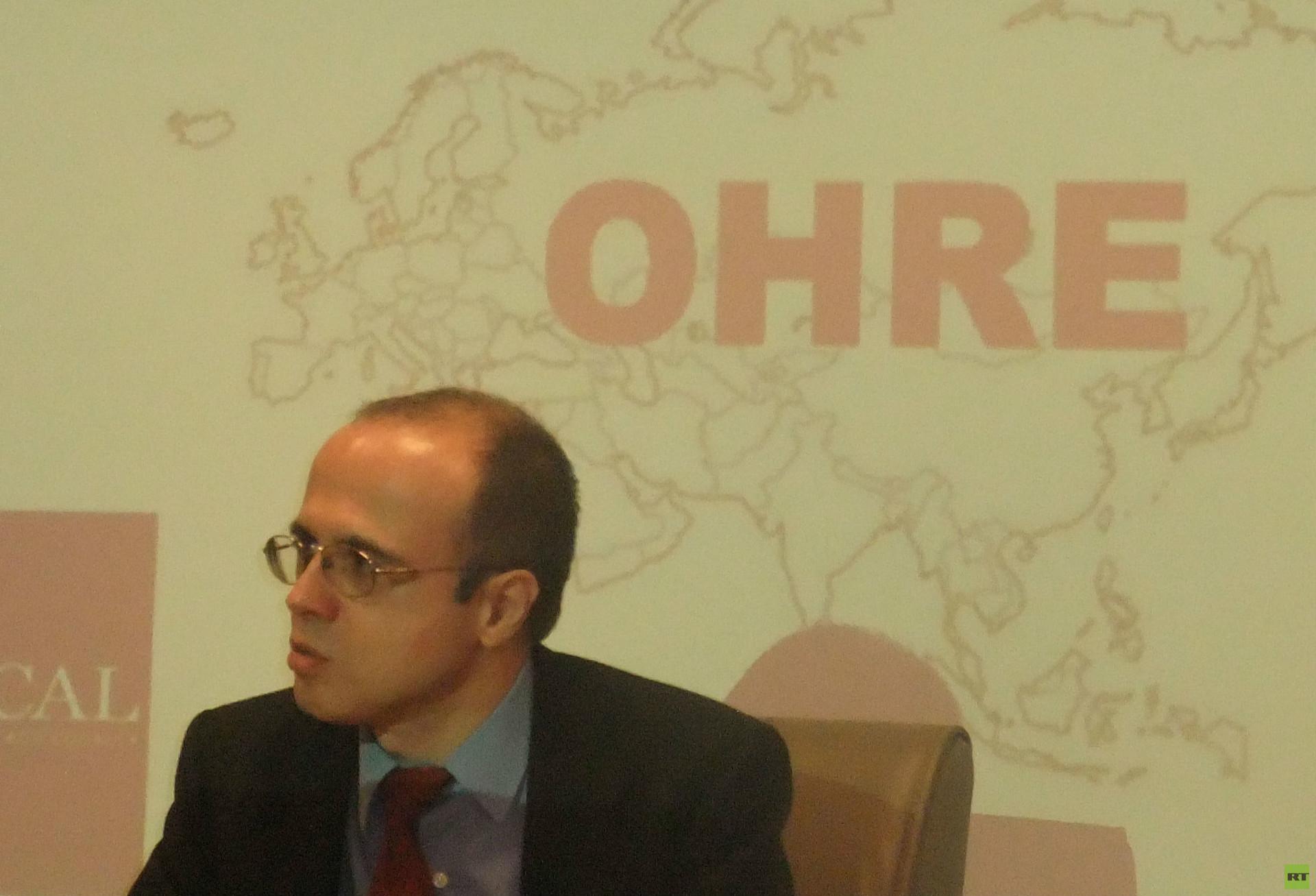 Fernando Moragón en la sede del Observatorio Hispano Ruso de Eurasia