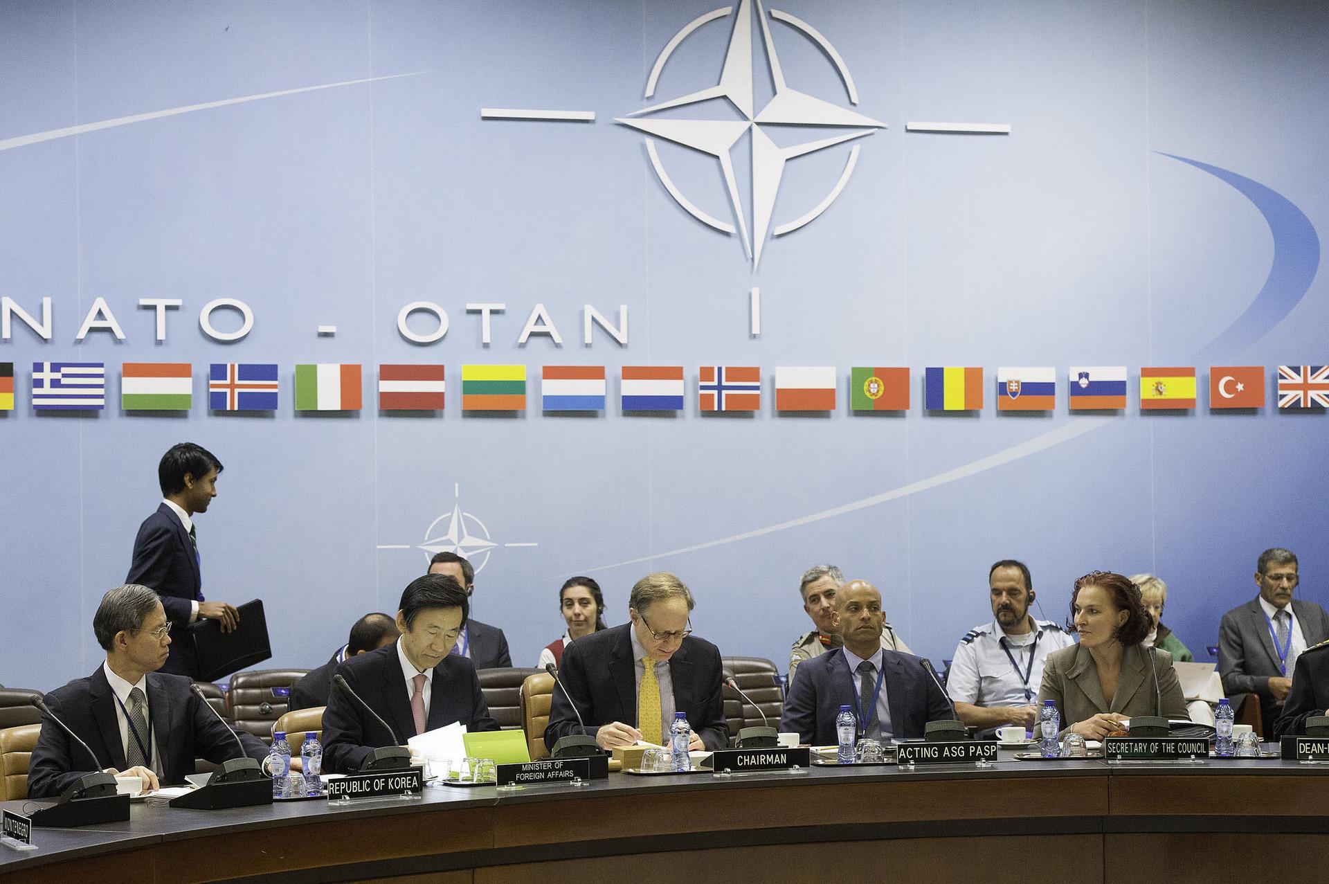Reunión de los países miembros de la OTAN.
