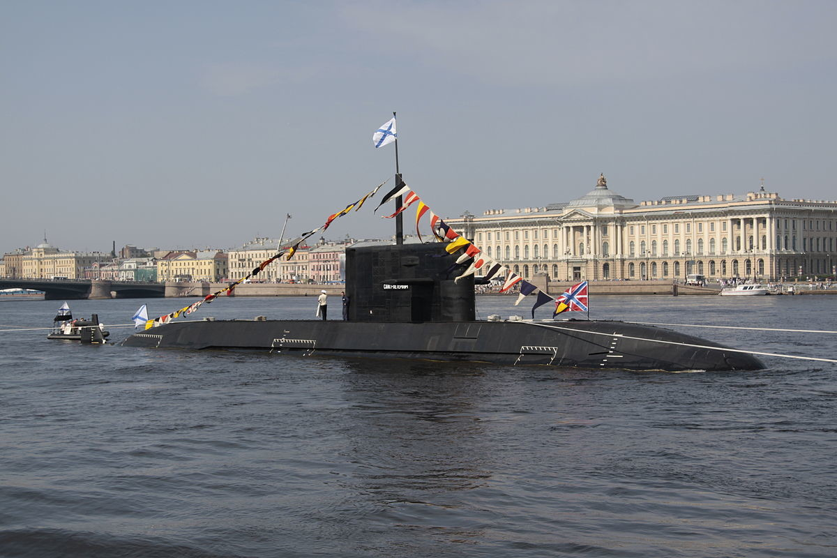 Un submarino nuclear de la Armada rusa en San Petersburgo, Rusia.