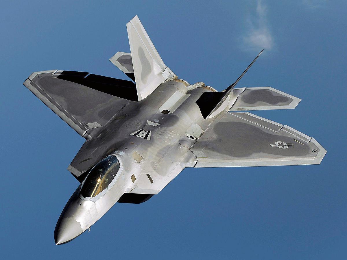 Un caza F-22 Raptor de la Fuerza Aérea de EE.UU. Enero de 2009.