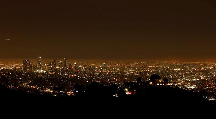 El centro de Los Ángeles (EE.UU.) desde el parque Griffith