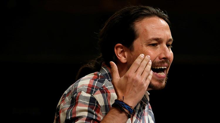Pablo Iglesias, líder de Podemos, durante una intervención