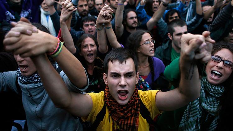 Manifestación frente al Congreso el 25 de septiembre de 2012