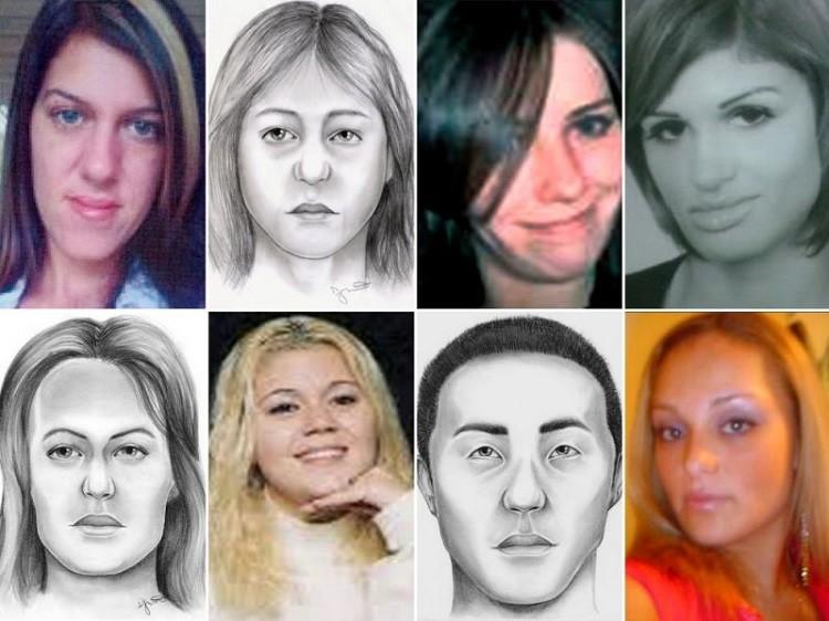 Las victimas del asesino serial.