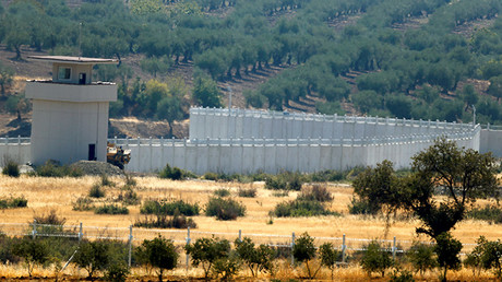 Un muro en la frontera entre Turquía y Siria.