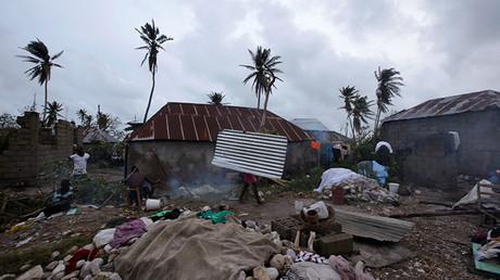 Les Cayes (Haití) después de la llegada del huracán Matthew.