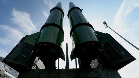 Un sistema de misiles Iskander-M en la ceremonia de apertura de un foro técnico-militar internacional.