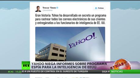 Yahoo niega informes sobre programa espía para la inteligencia de EE.UU.