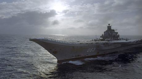 Portaaviones ruso Admiral Kuznetsov