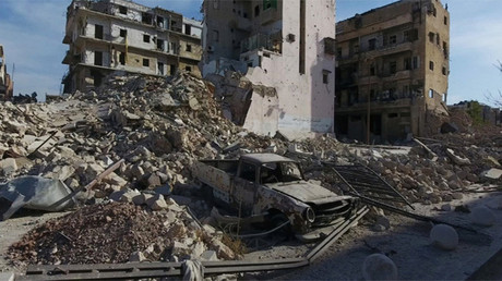 Imagen general de la destrucción en Aleppo, Siria
