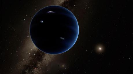 Una representación artística muestra la vista desde el Planeta Nueve hacia el Sol.