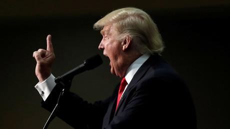 El candidato republicano a la Casa Blanca, Donald Trump, durante un discurso de campaña en Asheville, Carolina del Norte. 12 de septiembre de 2016.