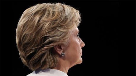 Hillary Clinton durante el último debate presidencial en Las Vegas, EE.UU.