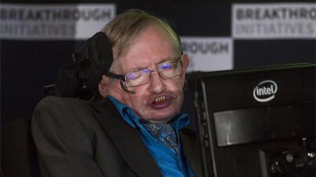 El profesor Stephen Hawking en rueda de prensa en Londres el 20 de julio de 2015.