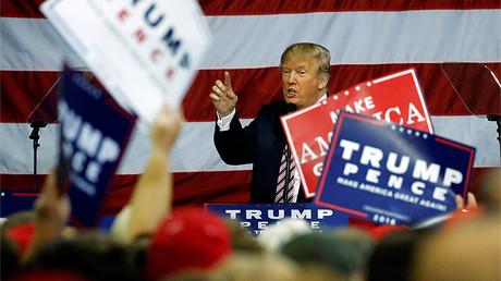 El candidato republicano Donald Trump, durante un acto de campaña electoral en Delaware (Ohio, EE.UU.), el 20 de octubre de 2016.