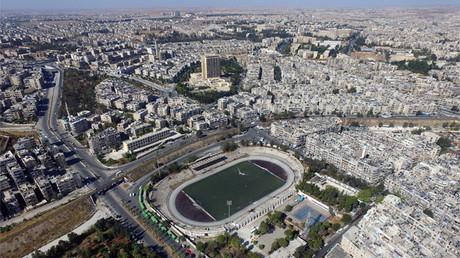 Un estadio en Alepo, Siria, el 21 de octubre de 2016.