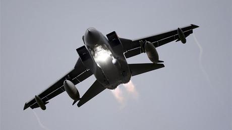 Un caza Panavia Tornado de la Real Fuerza Aérea británica